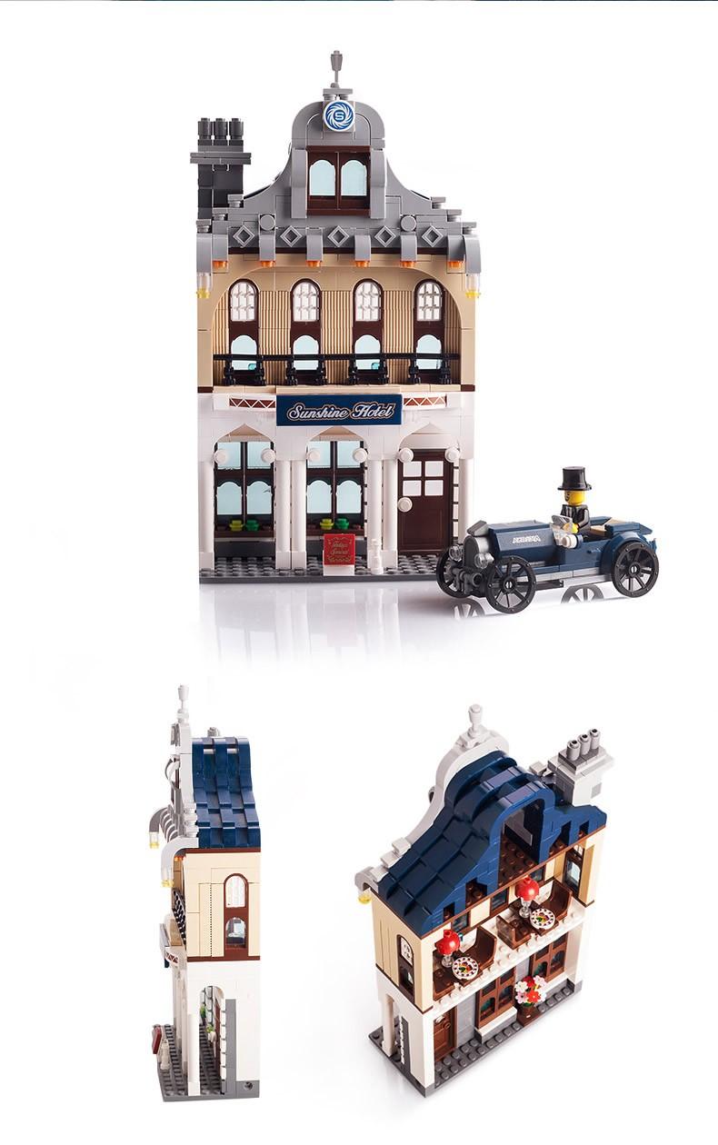 City Metropolis Lodge Enlighten 1127 Deluxe Villa Suite Bricks Toy Constructing Block units Determine minifigure blocks Appropriate with Legoe