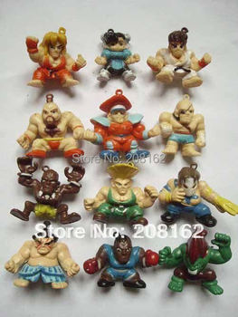 12 Styles KOF Street Fighter Game PVC Action Dolls Figures Toys Mobile Phone Pendant Figure Doll