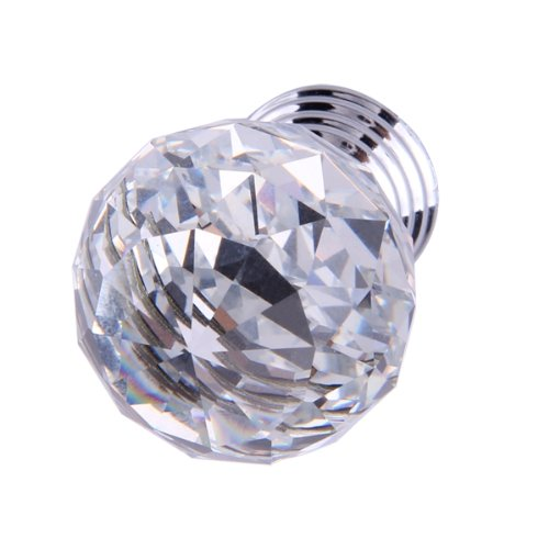 Best Selling Clear Crystal Glass Cabinet Drawer Door Knobs Handles 30mm(China (Mainland))