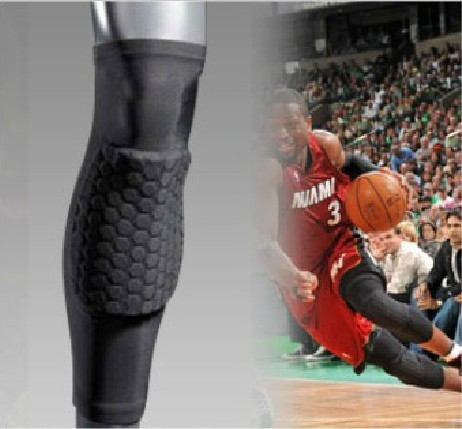 PRO basketball sports protective cellular anti-collision knee calf support extended cellular kneepad Leggings basketball(China (Mainland))