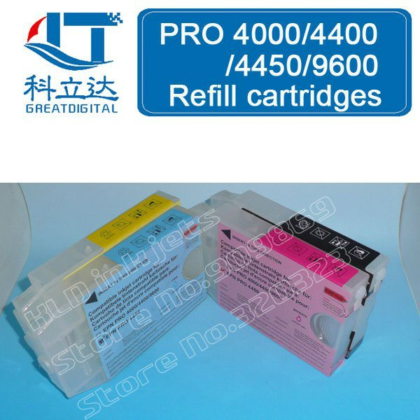 [KLD Inkjets] T5445 T5446 T5447 T5448 220ml Refllable Dye ink cartridge is compatible with EPSON Stylus Pro9600 pro 9600<br><br>Aliexpress