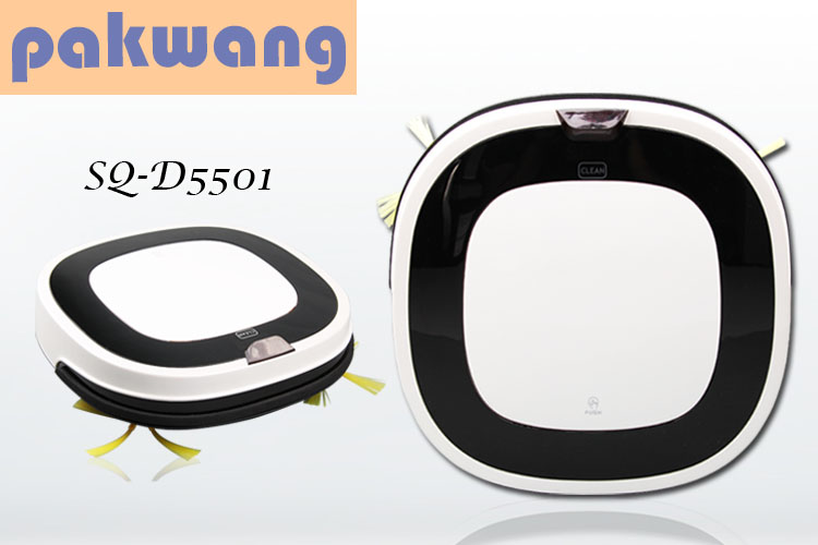 Pakwang home robot wireless vacuum cleaner white SQ-D5501 robot vacuum cleaner wet and dry mop free shipping(China (Mainland))