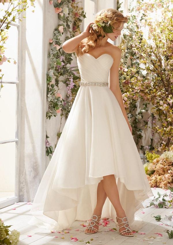 Buy Vestido De Noiva 2015 High Low White