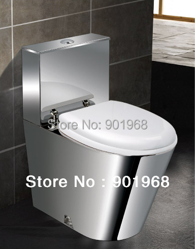 Dual-flush-S-trap-home bar office building hotel stainless steel 18/8 toilet bowl-toilet-WC pan-Toilet bowl