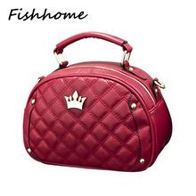 2017 Famous Designer Brand Crown Women Handbag Ladies Shell Quilted Shoulder Tote Bags Women Messenger Bag Bolsa Feminina TLJ008(China (Mainland))