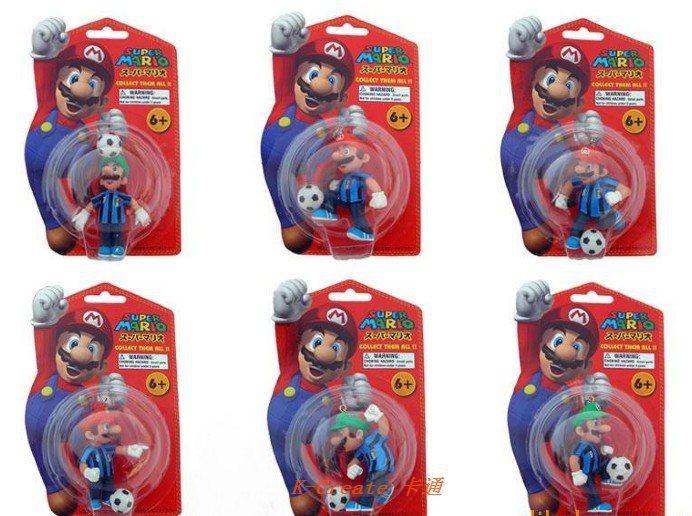 Free shipping 5set erery set 6pcs Super Mario football term Brazil Italy England Argentina China group pvc figure toy tall 6cm(China (Mainland))