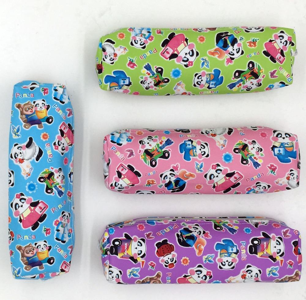 Гаджет  PVC Cute Cartoon School Pencil Case For  Children Kawaii Pen Bag Teenagers Students Zipper Panda Pencil case None Офисные и Школьные принадлежности
