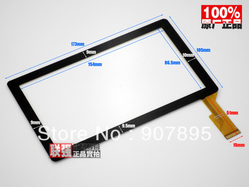 "Minimum $3 7""inch capacitive touch panel touch screen digitizer glass for All Winner A13 Q8 Tablet PC MID CZY6075A-FPC"