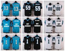 100% Stitiched,Carolina /s,Cam Newton,Josh Norman,Luke Kuechly,Greg Olsen,Kelvin Benjamin,customizable camouflage(China (Mainland))