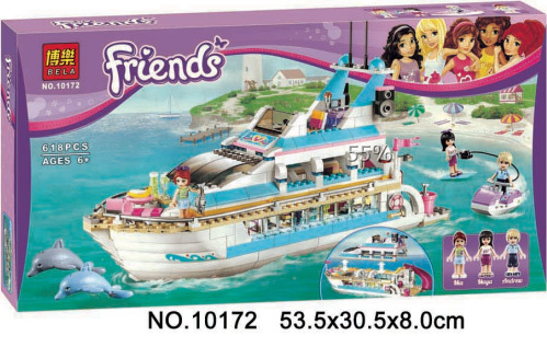 Гаджет  Bela 10172 Friends Series Girls Large cruise ships Model minifigures Building Blocks girl Summer toys Compatible With lego 41015 None Игрушки и Хобби
