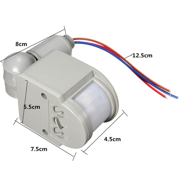 2015 new arrival super quality auto led outdoor infrared pir motion sensor detector wall light for Exterior motion sensor light switch