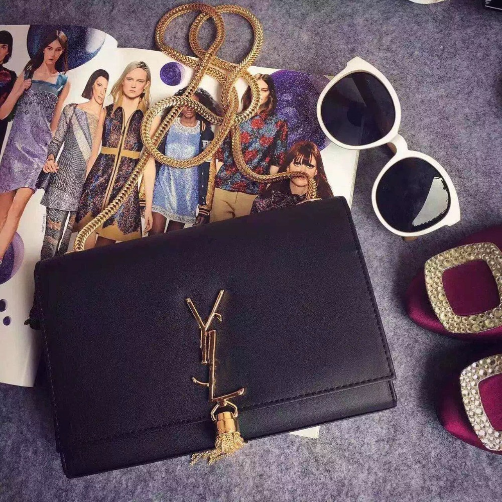 2015Hot sale Cross bags + Ys tassel bag, single inclined shoulder bag+all cowhide make Europe and the United States classic(China (Mainland))