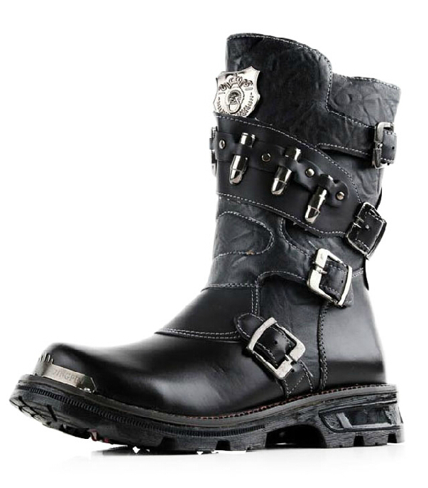 Punk Rock Ankle Boots Punk Rock Boots Male Ankle