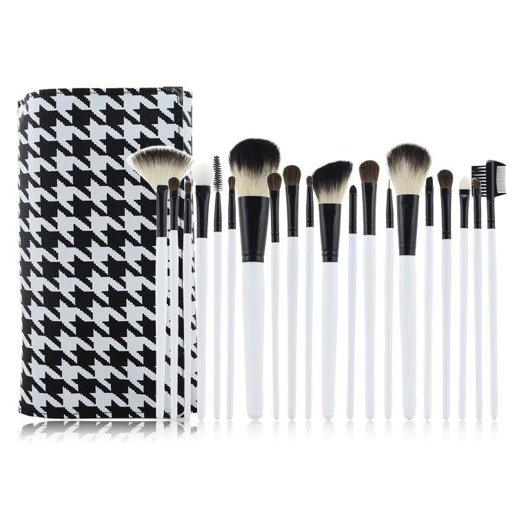 2015 New Arrival 20pcs White Wood Handle Cosmetic Makeup Brushes Set Powder Contour Eyeshadow Brush For Make Up(China (Mainland))