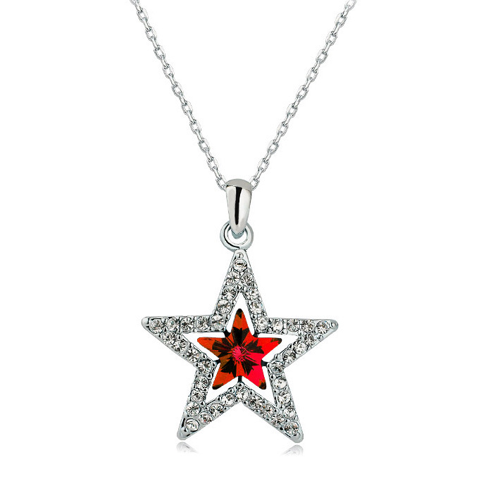 2014 Fashion Germanium Statement Necklace Jewelry Austrian Crystal Star Gold Designs 10 Grams - ABC Jewelry's store