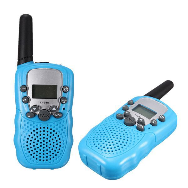 T-388 Blue Pair Portable Mini Walkie Talkie 2-Way Radio Wireless Multi Channels with LCD Screen 5KM UHF Car Auto VOX(China (Mainland))
