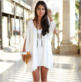 Женская туника для пляжа MISS 2015 V /Line mini dress