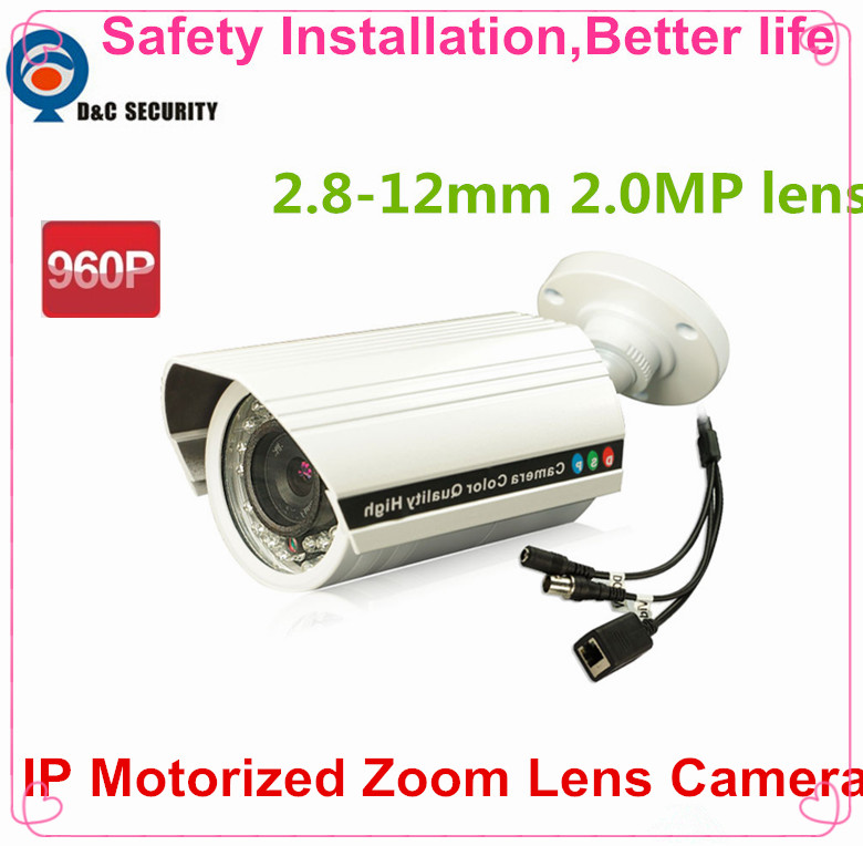 Safety Installation 960P 1.3MP mini IP Camera ONVIF 2.8-12mm auto focus zoom lens Plug and Play IP Bullet Waterproof IP66 Cam(China (Mainland))