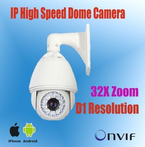 6'' 700TVL Day/Night PTZ IP Camera,200m IR View,32x optional Zoom 3.2-96mm len,Outdoor High Speed Dome IP Camera NP9600