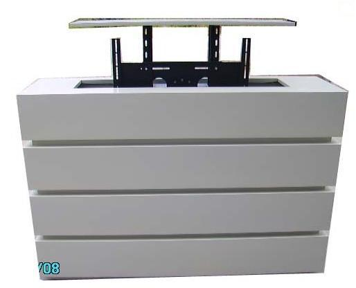 Bedroom Automationleather Bed Tv Lift From Bed For Automatic Tv Stand Can Be Lift 600mm With