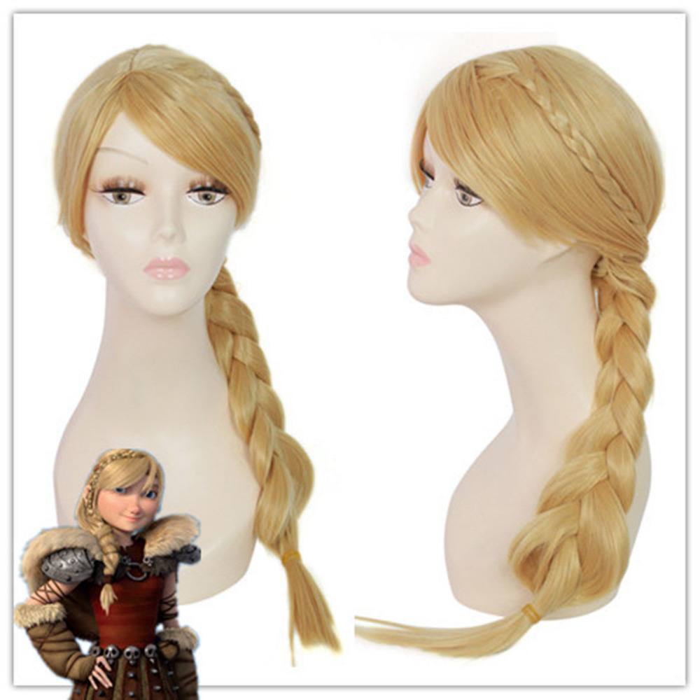 Hot heat resistant Party hair&gt;&gt;&gt;75cm How to Train Your Dragon 2 heroine Astrid Synthetic Braid Cosplay wig<br><br>Aliexpress