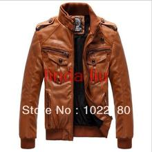 2013 Men's leather coat Men military style waterproof leather Suede blazer,outdoor winter couro jackets for man plus size 3XL