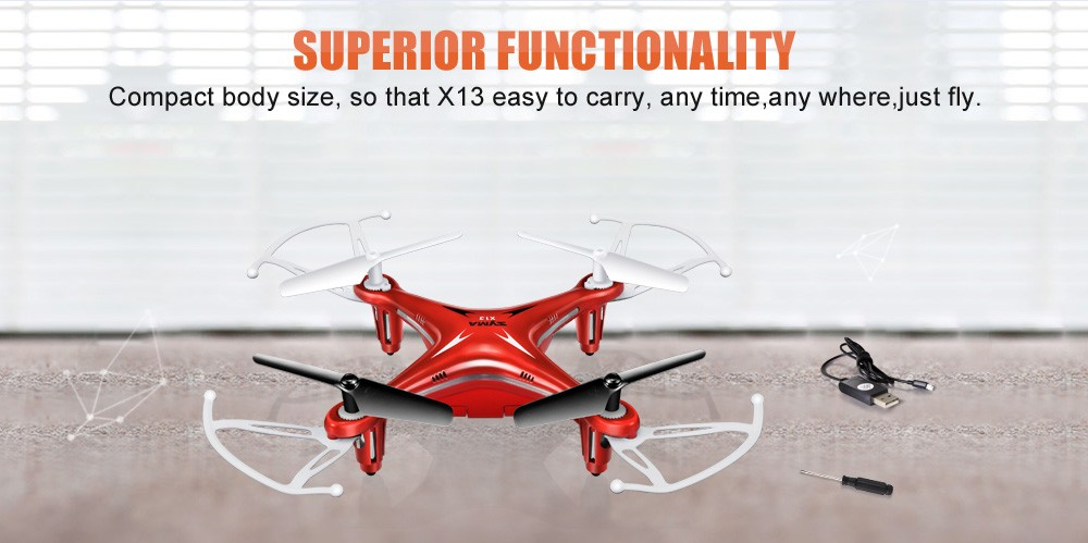 Hot Brand X13 RC Quadcopter Helicopter 2.4G 4CH 6Axis Remote Control 360 Every Vision Mini Drone White Children Toys