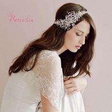 100% handmade crystal beads bridal wedding hair ornaments women Gorgeous rhinestone party wedding accessories new design RE615(China (Mainland))
