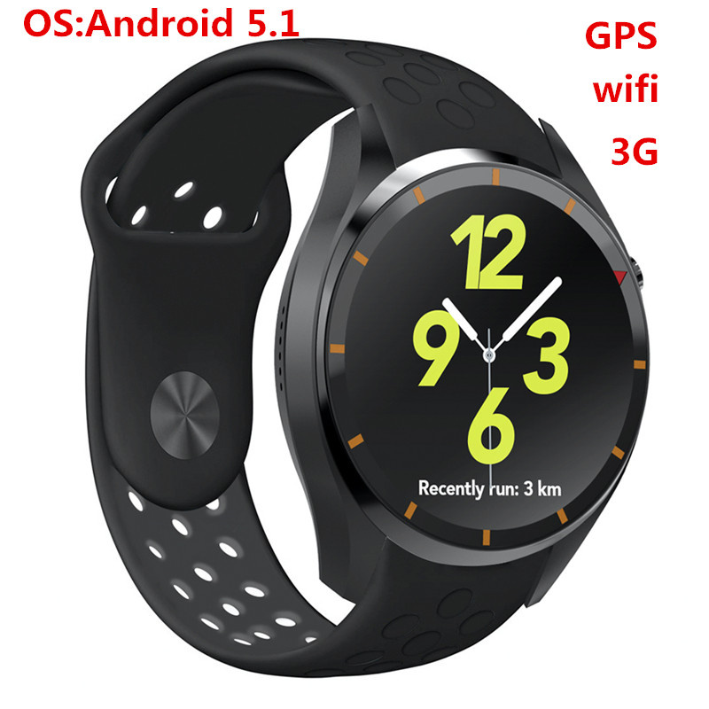 Newest Android 5.1 OS I3 Smart Watch MTK6580 ROM RAM 4GB 512MB Support 3G wifi GPS Browser Google play Heart Rate Monitoring