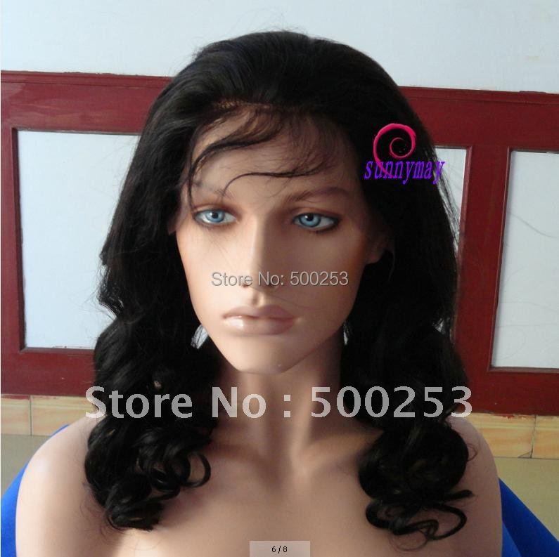 Spring Curl Brazilian Virgin Human Hair Lace Front Wigs