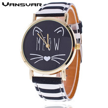New Fashion Lovely Meow Cat Watch Casual Women Wristwatch Luxury Quartz Watch Relogio Feminino Gift Clock 1919