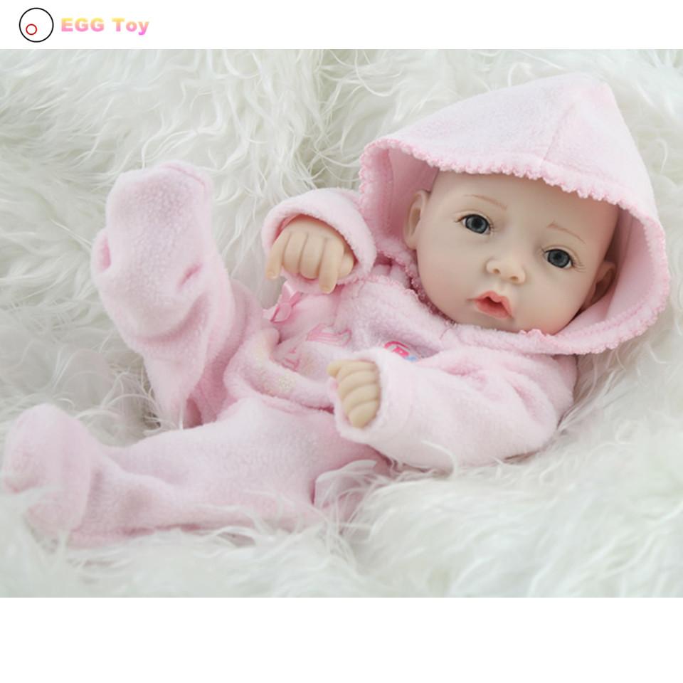 Фотография Full body Silicone Reborn Doll Toy bath Baby 28cm Lifelike Baby Girls gift  Doll Play House toy Educational toy  Reborn Doll