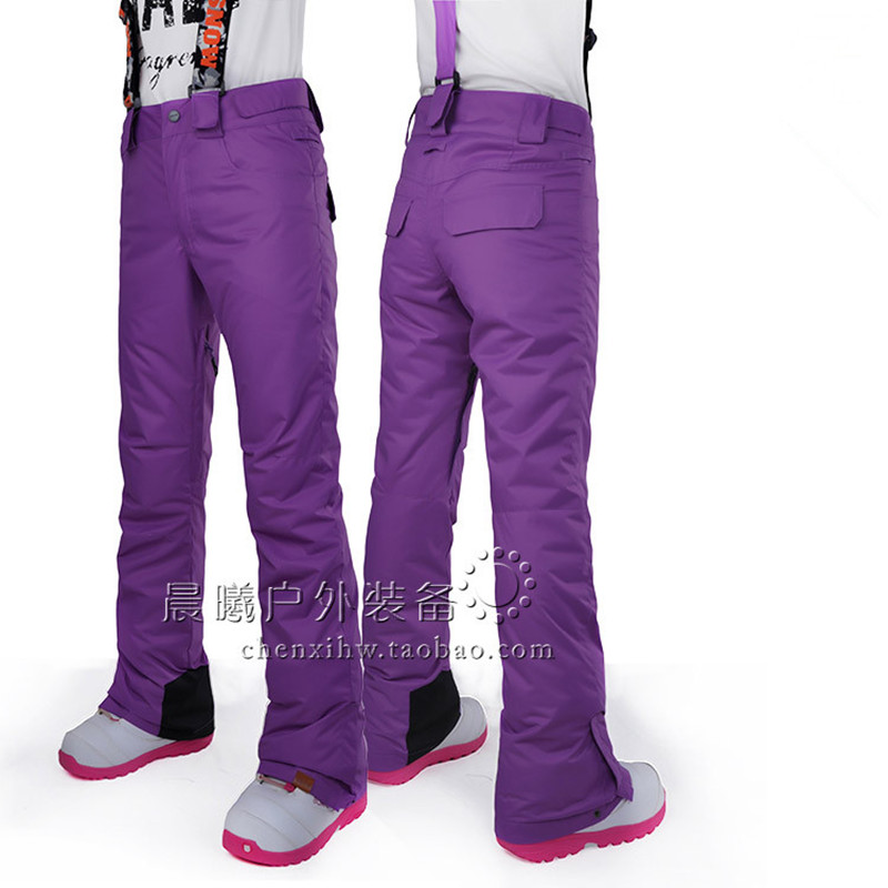 2016 Women Fashion Ski Pants Gsou Snow Band Warm Windproof Waterproof Trouser Female Snowboard Outdoor Sport Wear Ski Pants Hot(China (Mainland))