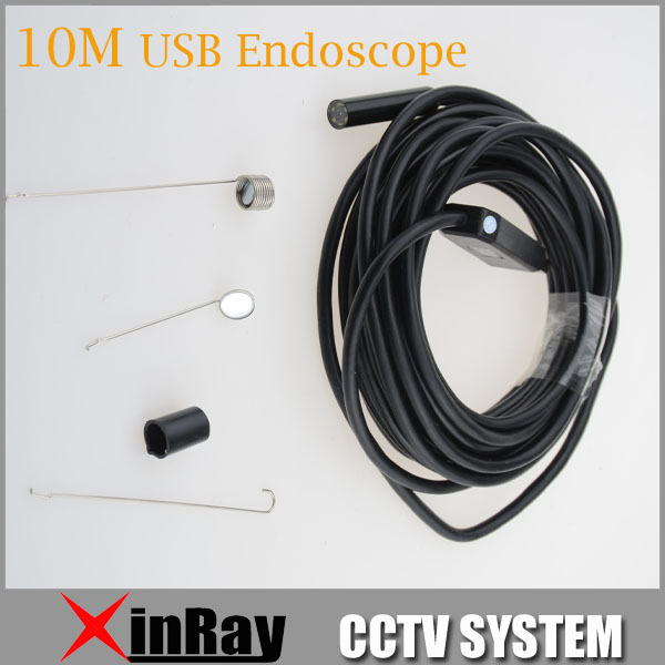 2MP 10M USB Endscope HD Waterproof Inspection Camera with 9mm lens 1600x1200 Resolution Mini USB Inspection Endoscope IC10H(China (Mainland))