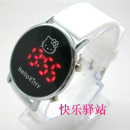 White Silicone Hello Kitty Watch Children led digital fashion watch Free & Drop Shipping - The new product store
