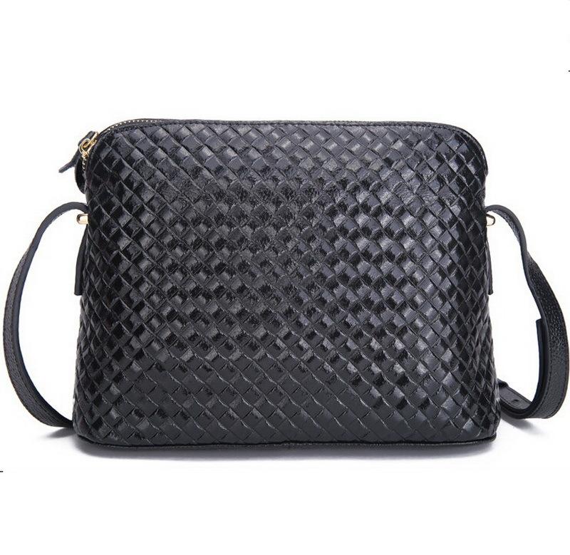 Aliexpress.com : Buy 100% real leather shoulder messenger bag knitting patter...