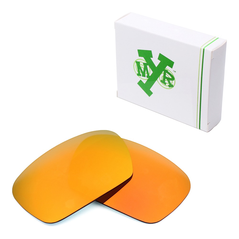 MRY POLARIZED Replacement Lenses for Oakley Badman Sunglasses Fire Red