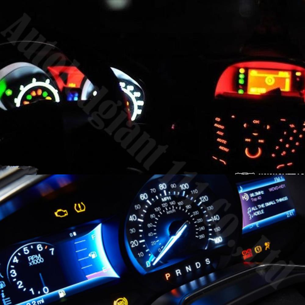Wljh Car Dashboard Led T5 5050 Smd Wedge Light Gauge Bulbs