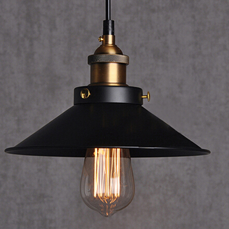 Free shipping Dia 22cm copper E27 base black light + 110V or 220V Edison bulb coffee bar lighting vintage lamps pendant lights(China (Mainland))