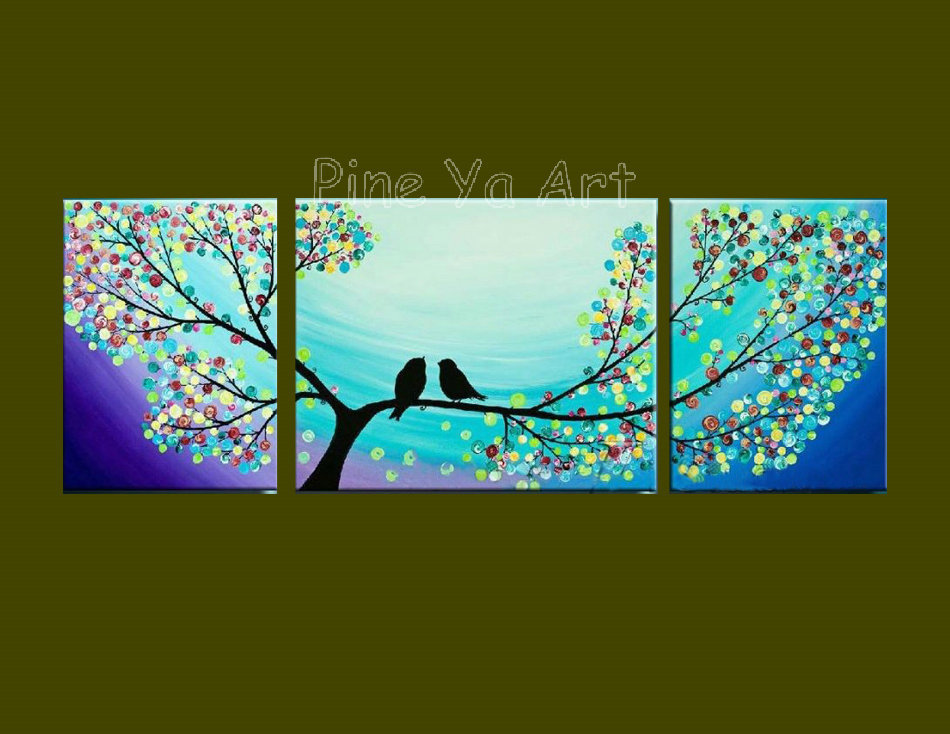 Piece Abstract Modern Canvas Wall Art Decorative Tree Large Cheap
