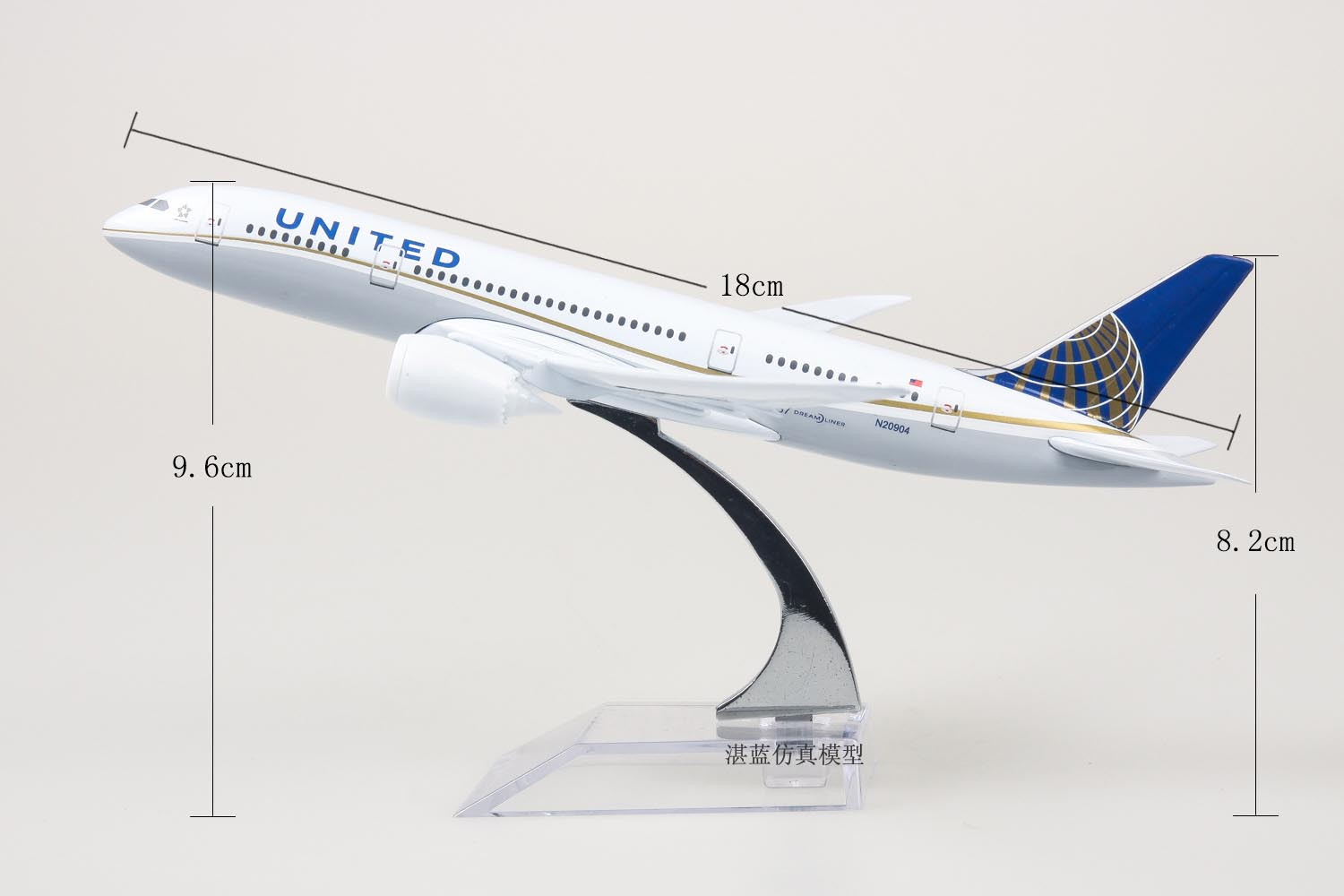 Brand New 1/350 Scale Airplane Model Toys United Airlines Boeing787 (Dreamliner) Airliner Diecast Metal Plane Model Toy For Gift(China (Mainland))