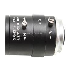 Buy Megapixel Fixed Iris HD CCTV Camera Lens 2.8-12mm Varifocal HD Security Camera Lens Manual Zoom & Focus M12/ CS Mount for $15.20 in AliExpress store
