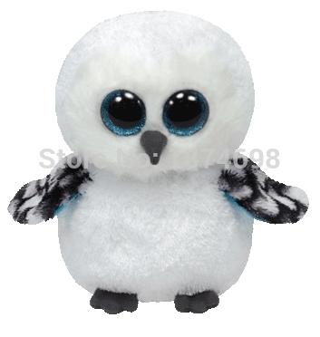 TY Plush Animals Beanie Boos Spells Snowy Owl Plush 15cm/6'' Cute Ty Big Eyed Stuffed Animal Bird Kids Toys for Children Gifts(China (Mainland))