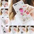 2016 DIY 3D 8 style Bling bling Rhinestone Clear plastic for Huawei P9 case for Huawei