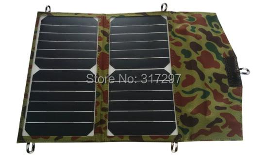 14Watt Highest Efficiency SUNPOWER Solar Cell Panel Folding Portable Solar Charger for iPhone/Samsung/LG/Xiaomi/iPad/Power Bank