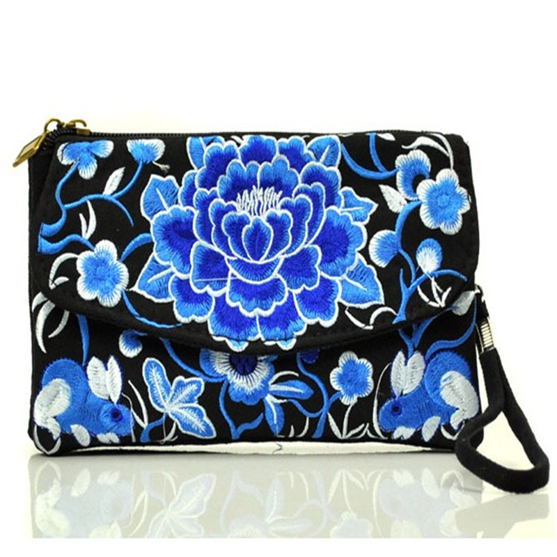 High Quality Women Girls Brand Designer Canvas Wallets Chinese National Style Cell Phone Bag Lady Wallet GD001(China (Mainland))