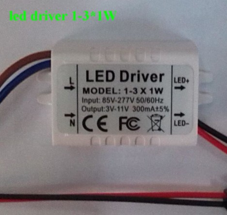 LED Driver 3W 3*1W with Input Voltage AC 85-165V New 20pcs<br><br>Aliexpress