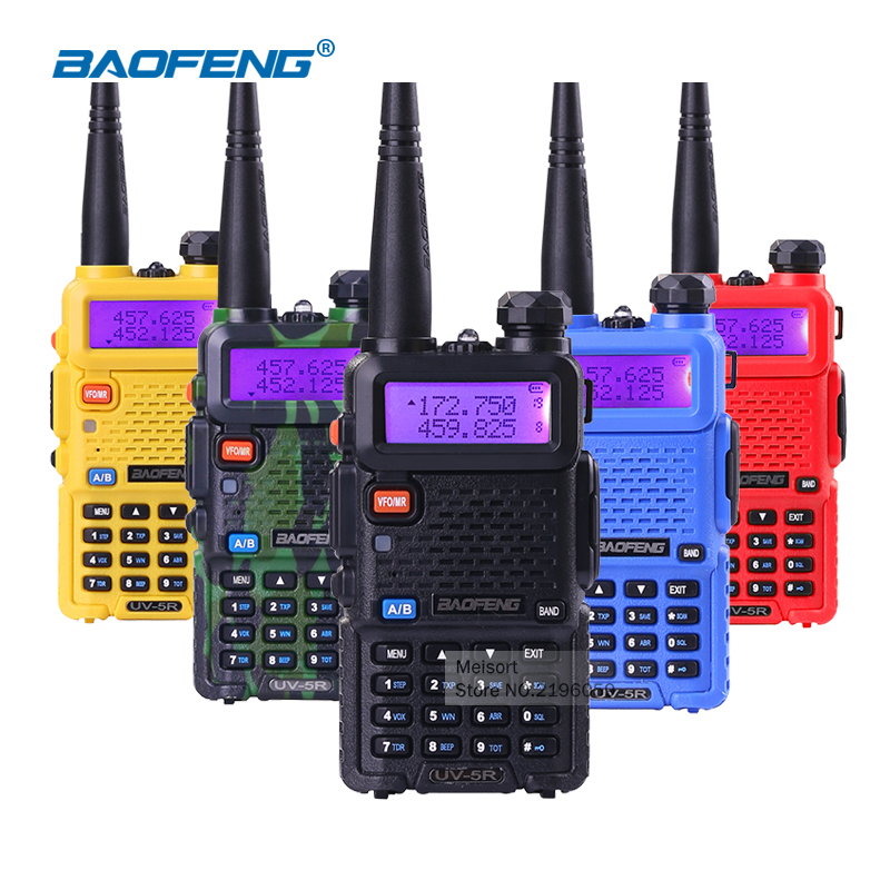 Portable Radio Set BaoFeng UV-5R 5W Dual Band VHF/UHF Handheld Two Way Radio CB Walkie Talkie Ham Radio Communicator Transceiver(China (Mainland))