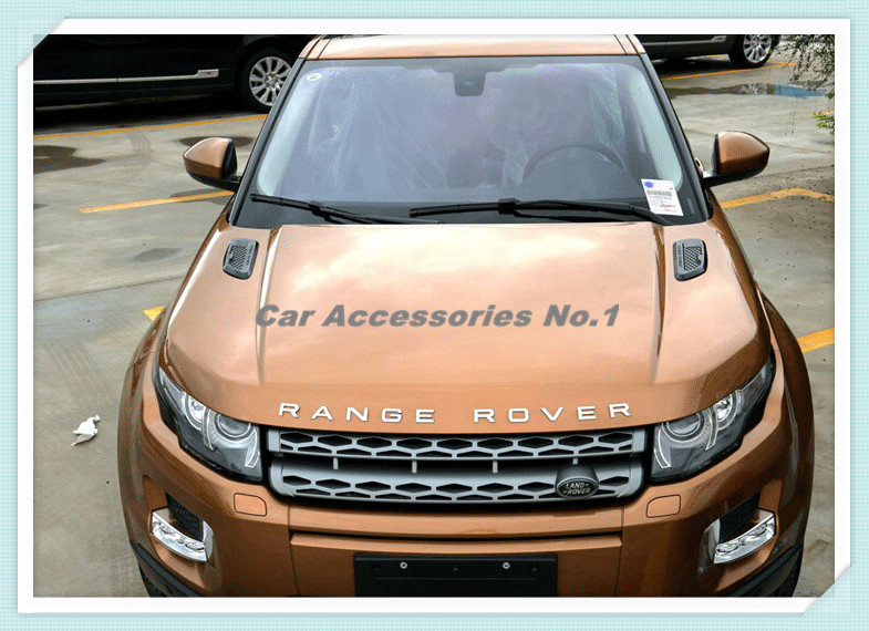 2PCS Car Front Engine Racing False Inlet Outlet Vent Fender Grille Shark Gill Cover Frame for Range Rover Evoque Free shipping(China (Mainland))
