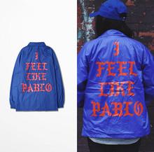 Fashion Hiphop Jacket Baseball Outdoor Jaqueta Masculina YEEZUS Men Yeezy Season 3 SpingJacket Men Instructor Windbreaker Jacket